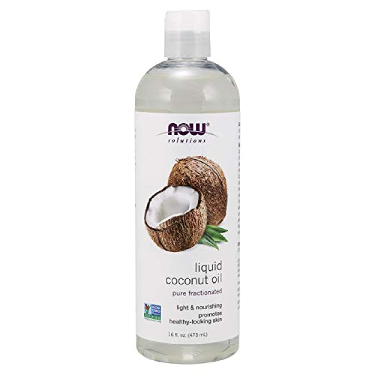 ウェブ吐き出すガードNow Foods Liquid Coconut Oil, 1.07 Pound