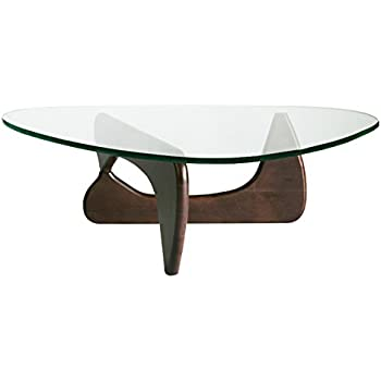 イサムノグチ センターテーブル ノグチテーブル 19mm 強化ガラス ウォールナット