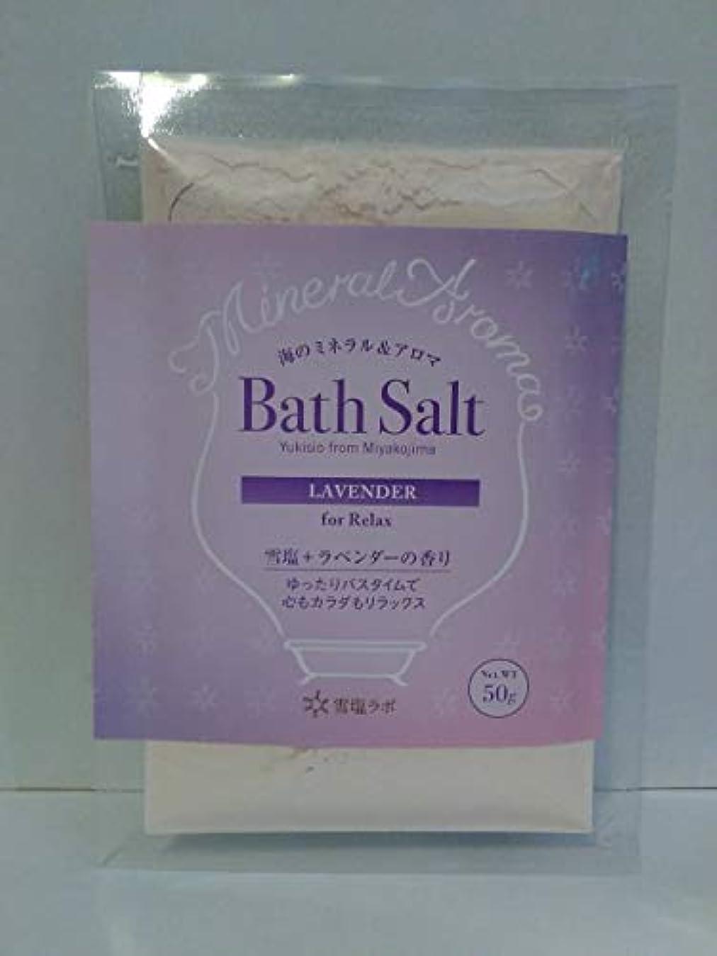 サロン粘着性恥海のミネラル&アロマ Bath Salt 雪塩+ラベンダーの香り