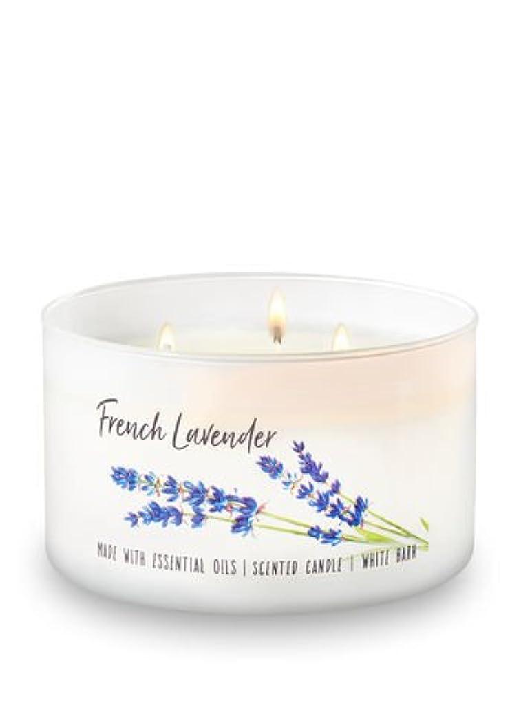 義務的消防士電球Bath and Body Works French Lavender 3 Wick 430ml Low Profile Candle