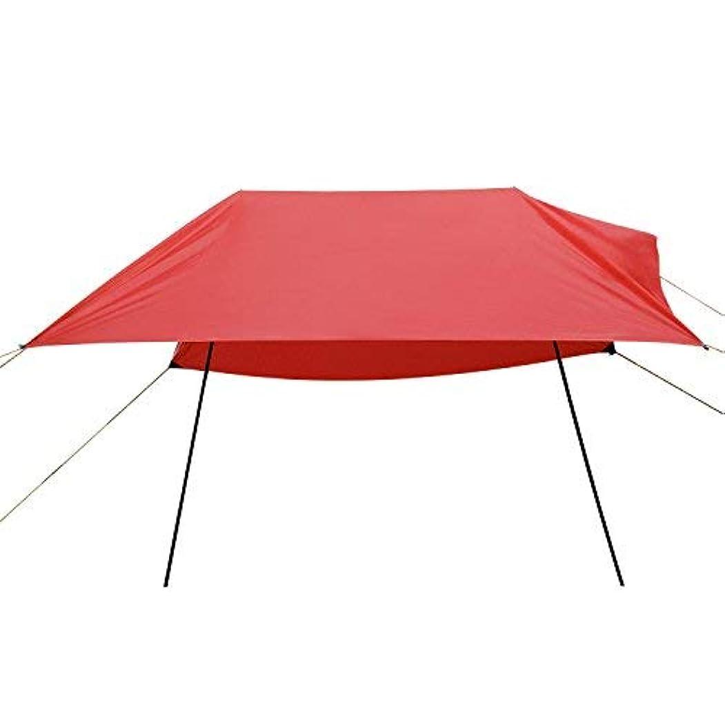 浪費わずかな贅沢Domary Hammock Rain Fly Tent(テント) Tarp(タープ), Anti UV Beach Tent(テント) Sun Shelters, Portable Canopy Sunshade with Steel Poles & Carrying Bag for Outdoor Camping/Beach/Travel- 9.8 x 9.8Ft [並行輸入品]