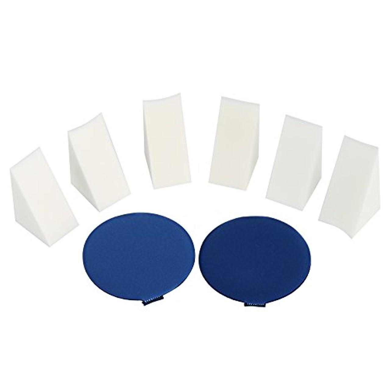 デザート垂直会話型LIHAO ファンデーションパフ メイクスポンジ エアパフ クッションファンデーション 三角メイクアップパフ 8個 セット