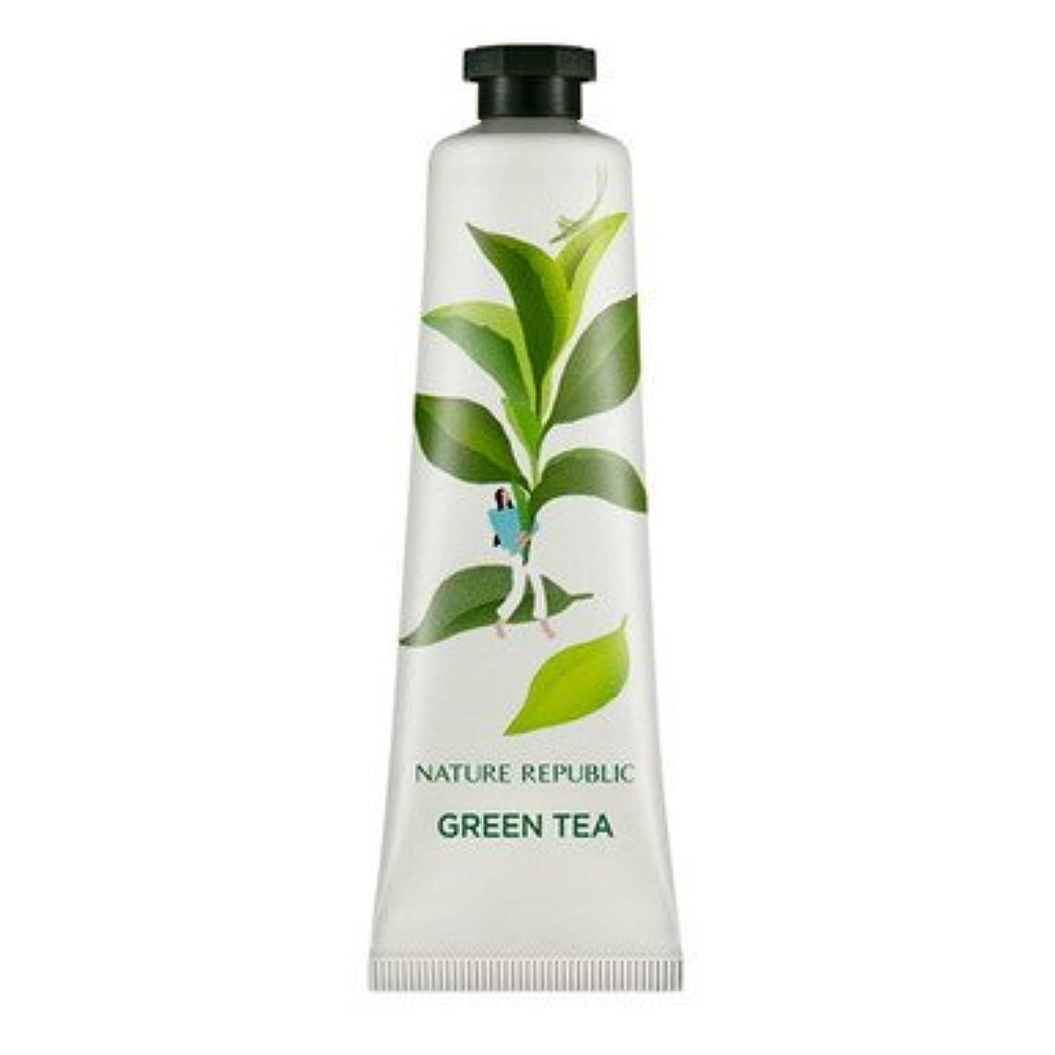 印刷するランダムカーペットNATURE REPUBLIC (ネイチャーリパブリック) ハンド アンド ネイチャー ハンドクリーム30ml (18種類選択1) (緑茶の香り) [並行輸入品]