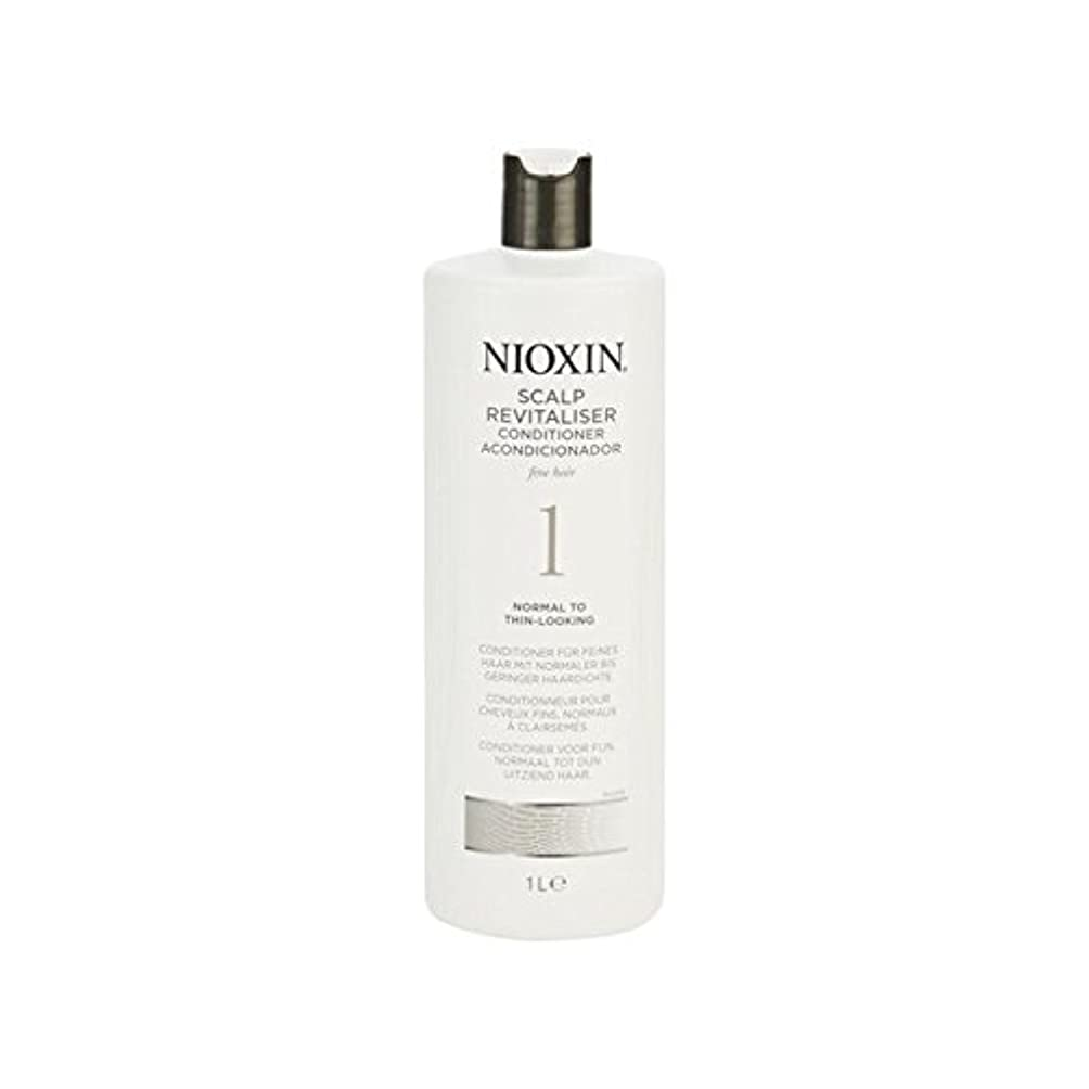 すぐにしっとり高度細かい自然な髪千ミリリットルに、通常のためニオキシンシステム1人の頭皮コンディショナー x4 - Nioxin System 1 Scalp Revitaliser Conditioner For Normal To Fine...