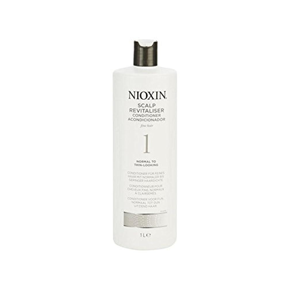 ゲスト緩むチャットNioxin System 1 Scalp Revitaliser Conditioner For Normal To Fine Natural Hair 1000ml (Pack of 6) - 細かい自然な髪千ミリリットル...