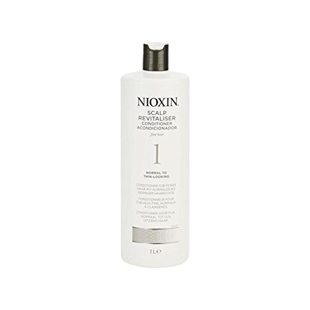 アプト受粉者ためにNioxin System 1 Scalp Revitaliser Conditioner For Normal To Fine Natural Hair 1000ml - 細かい自然な髪千ミリリットルに、通常のためニオキシンシステム...