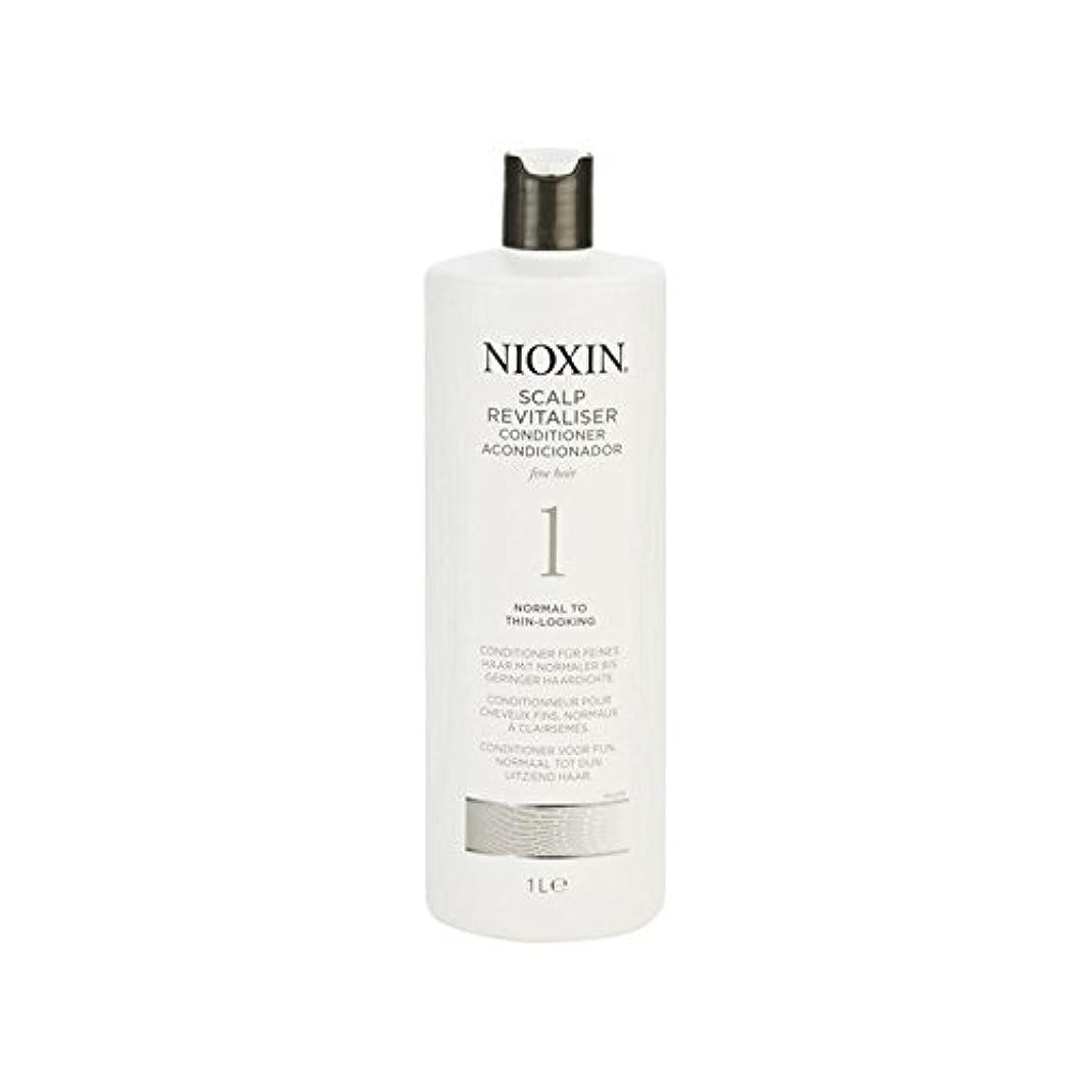 違う姿を消す重要な細かい自然な髪千ミリリットルに、通常のためニオキシンシステム1人の頭皮コンディショナー x4 - Nioxin System 1 Scalp Revitaliser Conditioner For Normal To Fine...
