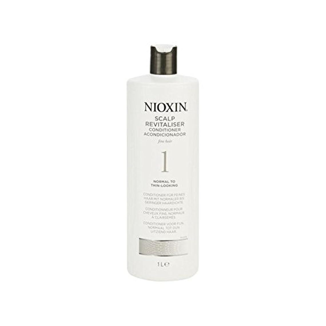 三角マイクロプロセッサ追い越す細かい自然な髪千ミリリットルに、通常のためニオキシンシステム1人の頭皮コンディショナー x4 - Nioxin System 1 Scalp Revitaliser Conditioner For Normal To Fine...