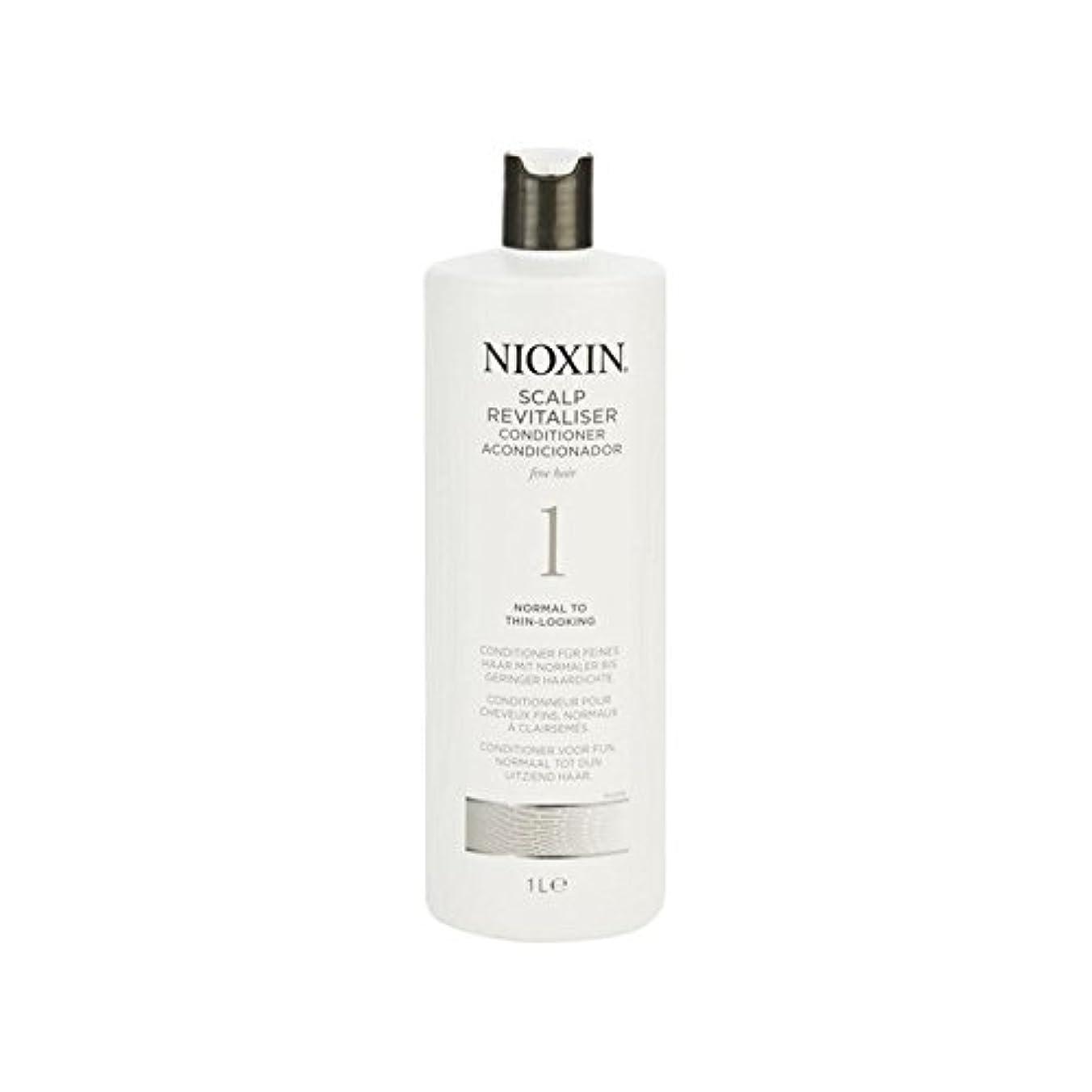 細かい自然な髪千ミリリットルに、通常のためニオキシンシステム1人の頭皮コンディショナー x4 - Nioxin System 1 Scalp Revitaliser Conditioner For Normal To Fine...