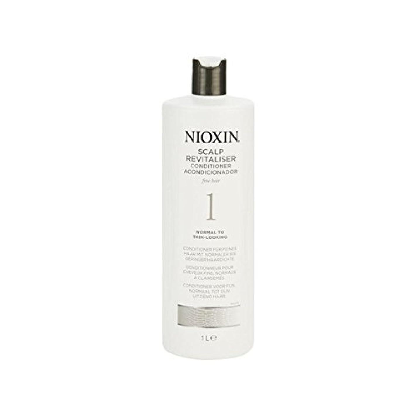 元のに負ける外観Nioxin System 1 Scalp Revitaliser Conditioner For Normal To Fine Natural Hair 1000ml - 細かい自然な髪千ミリリットルに、通常のためニオキシンシステム...