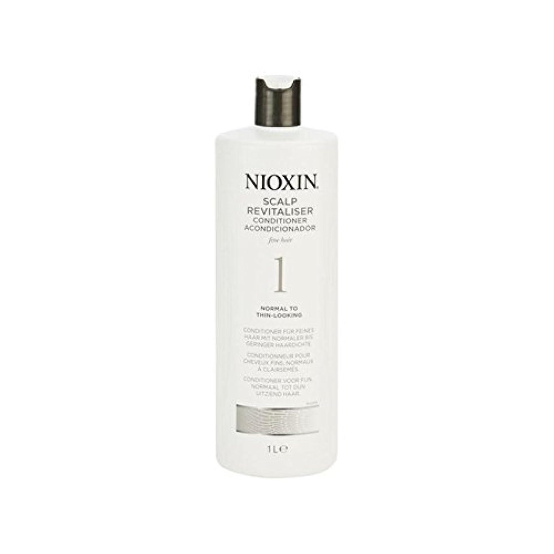 動ベーシック均等に細かい自然な髪千ミリリットルに、通常のためニオキシンシステム1人の頭皮コンディショナー x4 - Nioxin System 1 Scalp Revitaliser Conditioner For Normal To Fine...