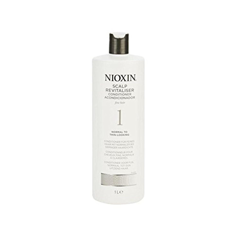 防ぐ推論とげ細かい自然な髪千ミリリットルに、通常のためニオキシンシステム1人の頭皮コンディショナー x4 - Nioxin System 1 Scalp Revitaliser Conditioner For Normal To Fine...