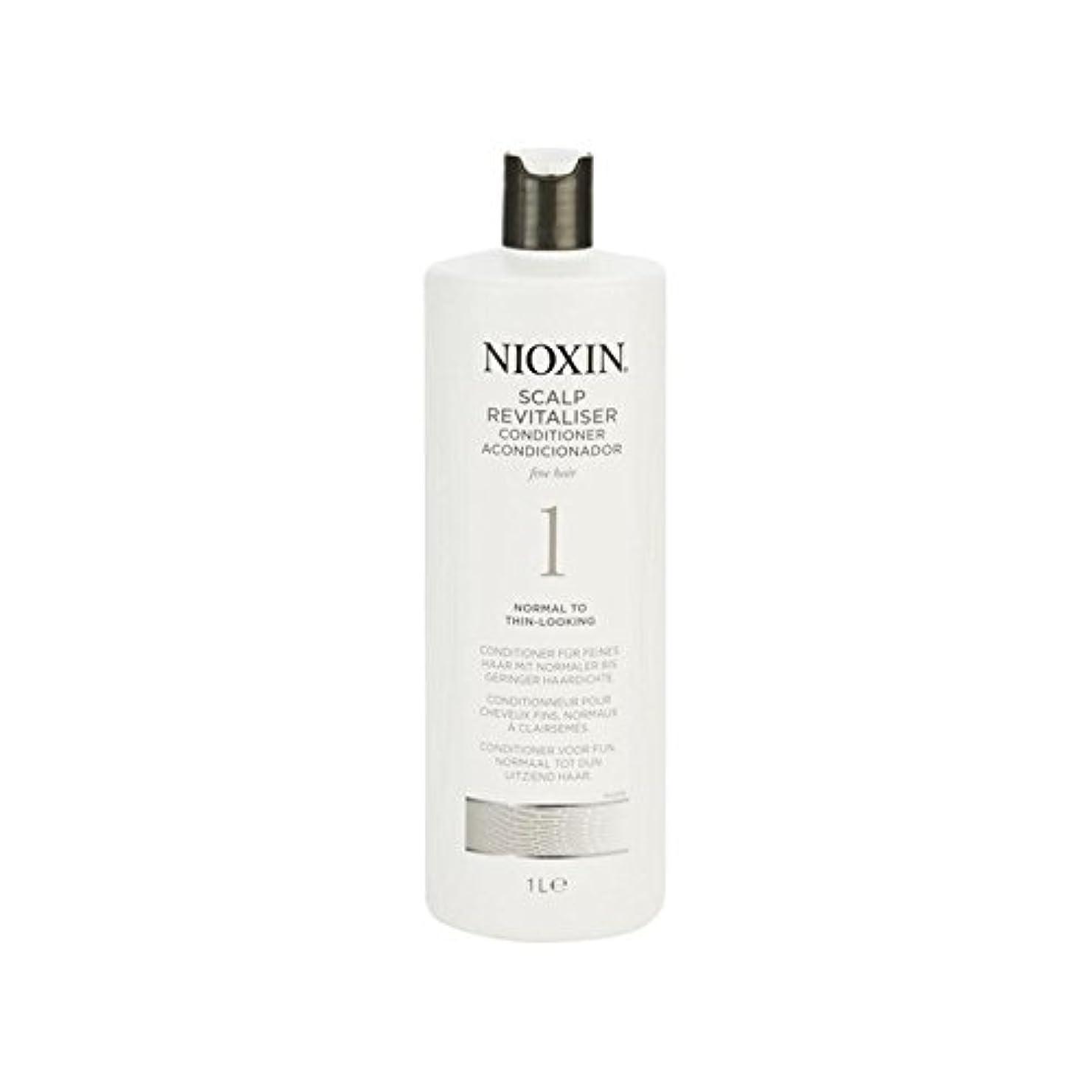 父方のトランジスタアシュリータファーマンNioxin System 1 Scalp Revitaliser Conditioner For Normal To Fine Natural Hair 1000ml (Pack of 6) - 細かい自然な髪千ミリリットルに、通常のためニオキシンシステム1人の頭皮コンディショナー x6 [並行輸入品]