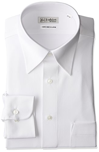 [ハルヤマ] i-shirt 完全ノーアイロン ストレッチ 速乾 長袖 アイシャツ ワイシャツ メンズ オフホワイト ゆったりサイズ 長袖レギュラーカラー M151180111 LL86(首回り43cm×裄丈86cm)-(日本サイズXL相当)