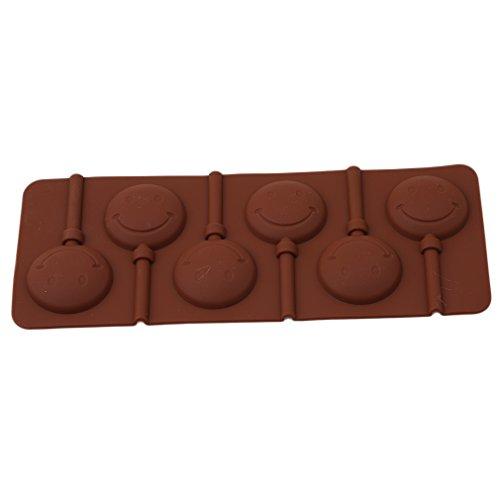 [해외]BEE &  BLUE 롤리팝 형 초콜릿 몰드 얼음 형 아이스 트레이 과자 형 미소 스틱 6 개 포함/BEE &  BLUE lollipop type chocolate type ice type ice making dish Confection type smile stick with 6