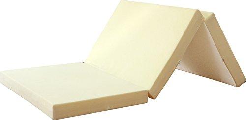 ottostyle.jp 高反発マットレス 三つ折り 10cm シングル クリーミーホワイト 硬さ130ニュートン/やや硬め (高密度ウレタンフォーム使用)