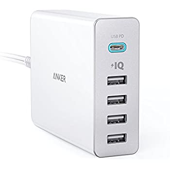 Anker PowerPort+ 5 USB-C Power Delivery (60W 5ポート Power Delivery搭載 USB&USB-C 急速充電器) 新しいMacBook / iPhone / iPad / Android 各種他対応 (ホワイト)
