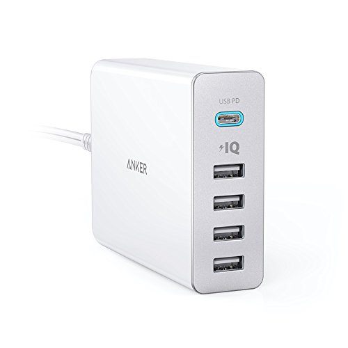 Anker PowerPort+ 5 USB-C Power Delivery (60W 5ポート Power Delivery搭載 USB&USB-C 急速充電器) 新しいMacBook / iPhone / iPad / Android 各種他対応