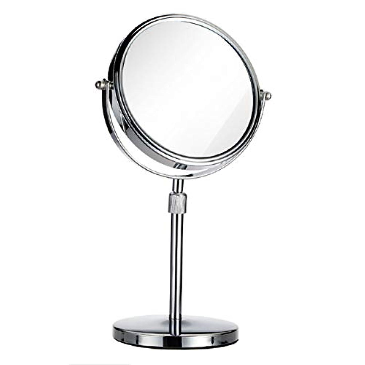 どういたしましてもちろん観光に行くヨーロピアンスタイルシンプルなスタイル HD両面ミラー 3倍拡大鏡 360度回転 高さ調節可能 とても太い*+フレーム 滑り止め 大型ミラー 卓上鏡 スタンドミラー メイク 化粧道具 女優ミラー グルーミングミラー シルバーミラー