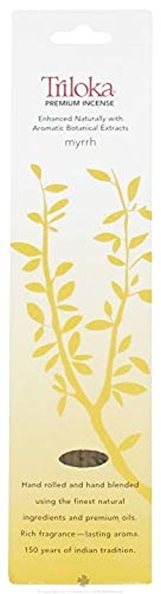 熟すプレゼント維持するMyrrh - Triloka Premium Incense Sticks by Triloka Premium Incense Sticks