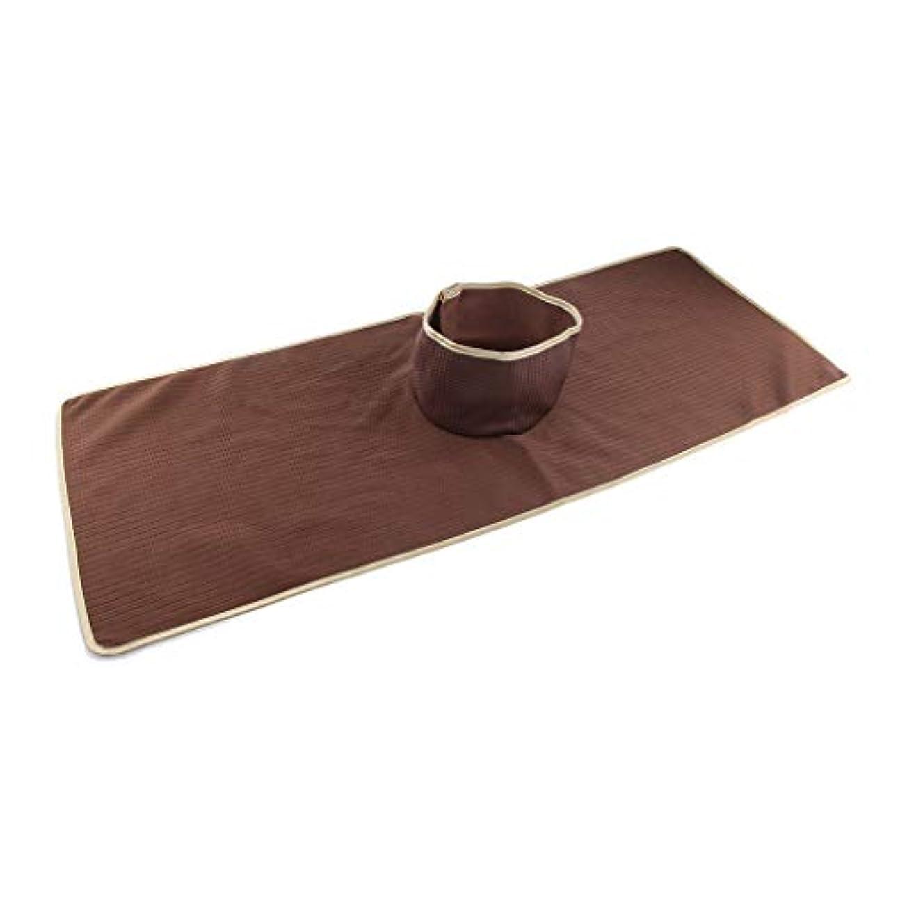 サイバースペースカップケイ素サロン 美容院 マッサージのベッド パッド 穴付き 洗える 約90×35cm 全3色 - コーヒー