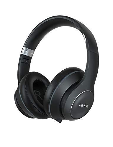 EarFun Wave Bluetooth 5.0 ヘッドホン 40時間連続再生 Hi-Fi高音質 40mm 高磁力ネオジウムドライバー 自動ペアリング 密閉型 内蔵マイク 折りたたみ式 ハンズフリー通話 音声アシスト機能 ブラック