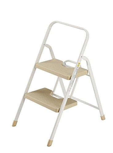 シービージャパン 脚立 踏み台 ベージュ 折りたたみ 2段 フォールディング ステップ 耐荷重100kg 室内外用 folding step