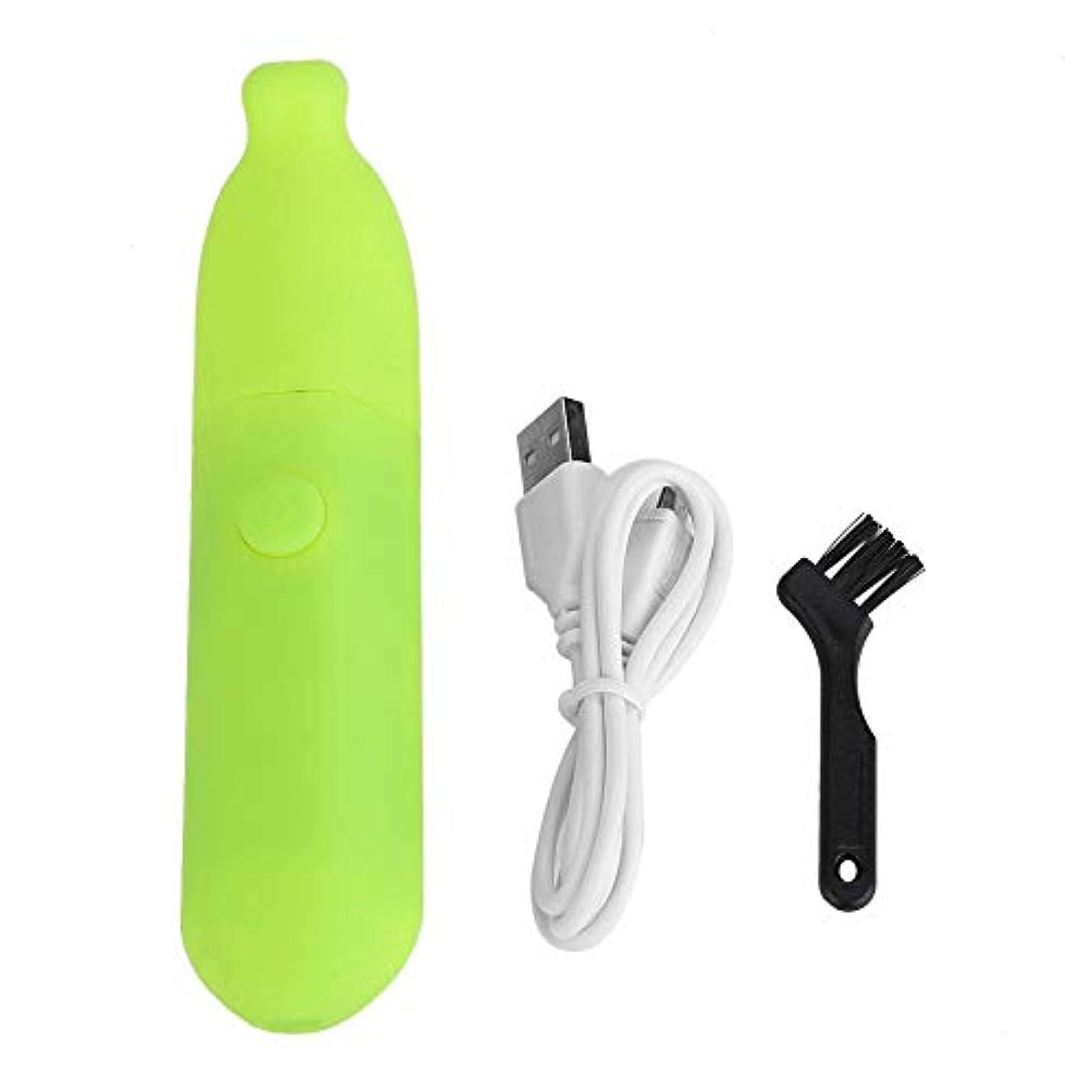 シリンダーブランド過度にメインマシン 電動爪切り 電動爪磨き ネイルケア ABS製 削り磨き整え 低速ギア 微細研磨 甘皮処理 角質ケア USB充電式 騒音なし 簡単安全 お子様 お年寄り 携帯便利 2色 ブラシ付き(グリーン)