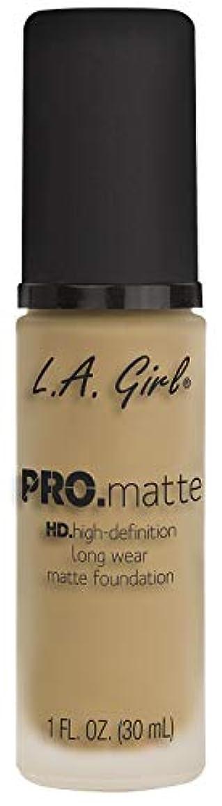 確実時代遅れトリッキーL.A. GIRL Pro Matte Foundation - Deep Tan (並行輸入品)