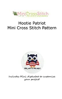 Hootie Patriot Mini Cross Stitch Pattern by [Stitch, Pinoy]