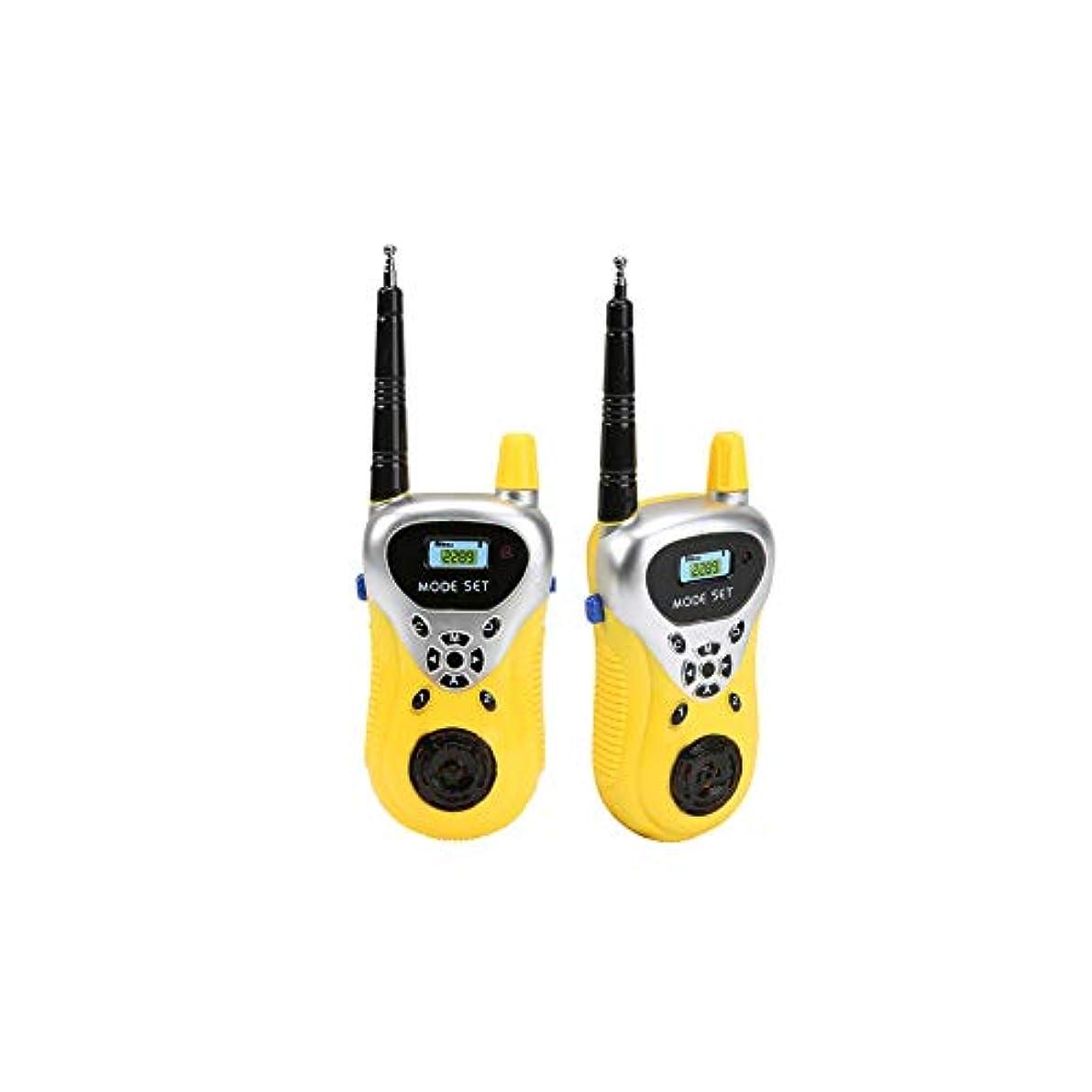 ラインナップ真夜中安定しましたSnner 子供のおもちゃのトランシーバー双方向無線屋外のゲームのインタラクティブ玩具インテリジェント無線トランシーバー黄色