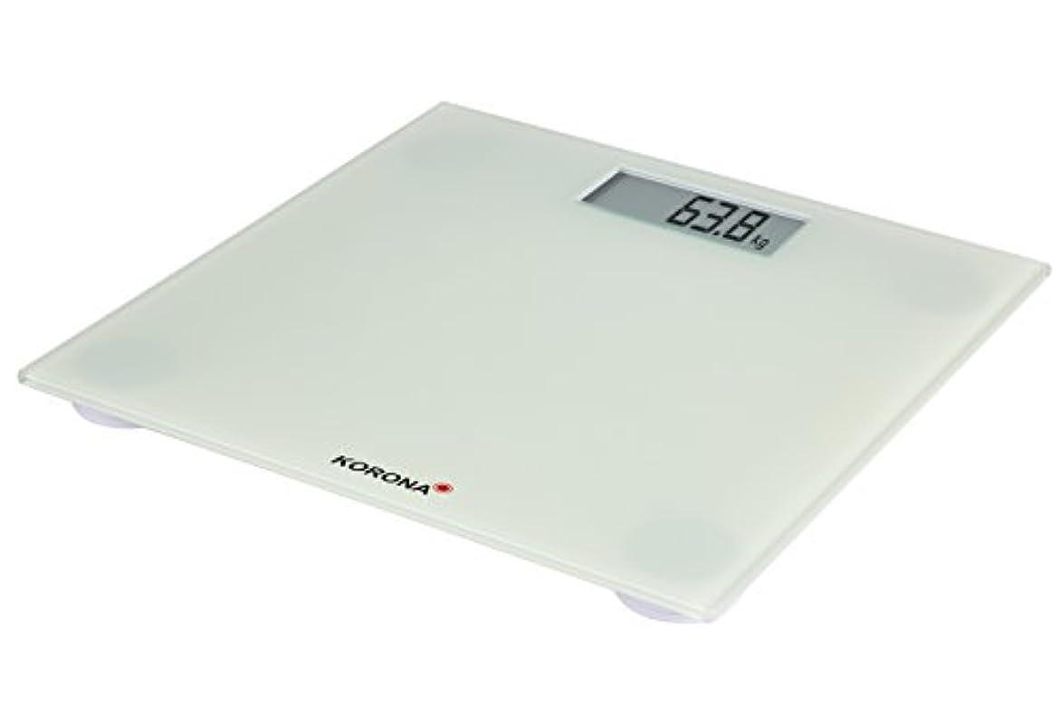 全くすみません戸惑うローラ73220 I電気Iコロナ電子式体重計180 kg最大荷重/ガラス/白