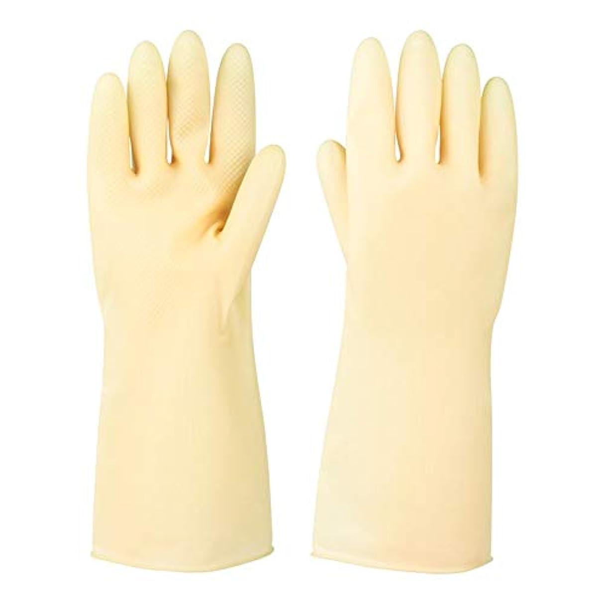 考古学的な激しい顎ニトリルゴム手袋 ラバーレザーグローブ厚めの滑り止め耐摩耗性防水保護手袋、5ペア 使い捨て手袋 (Color : 5 pair, Size : S)