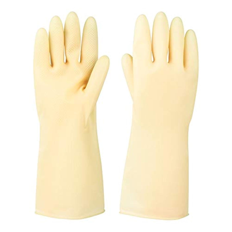 使い捨て手袋 ラバーレザーグローブ厚めの滑り止め耐摩耗性防水保護手袋、5ペア ニトリルゴム手袋 (Color : 5 pair, Size : S)