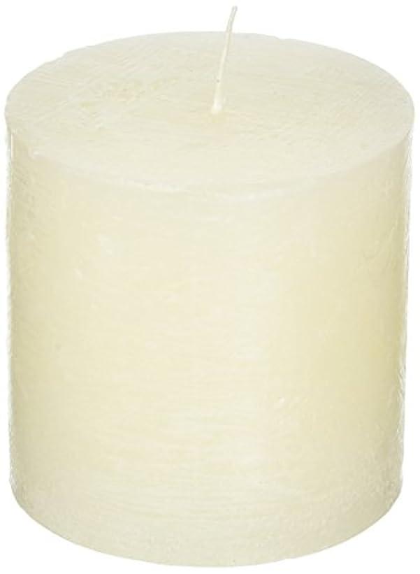 風味ベテラン平等ラスティクピラー3×3 「 シルキーホワイト 」 キャンドル A4890010SWH