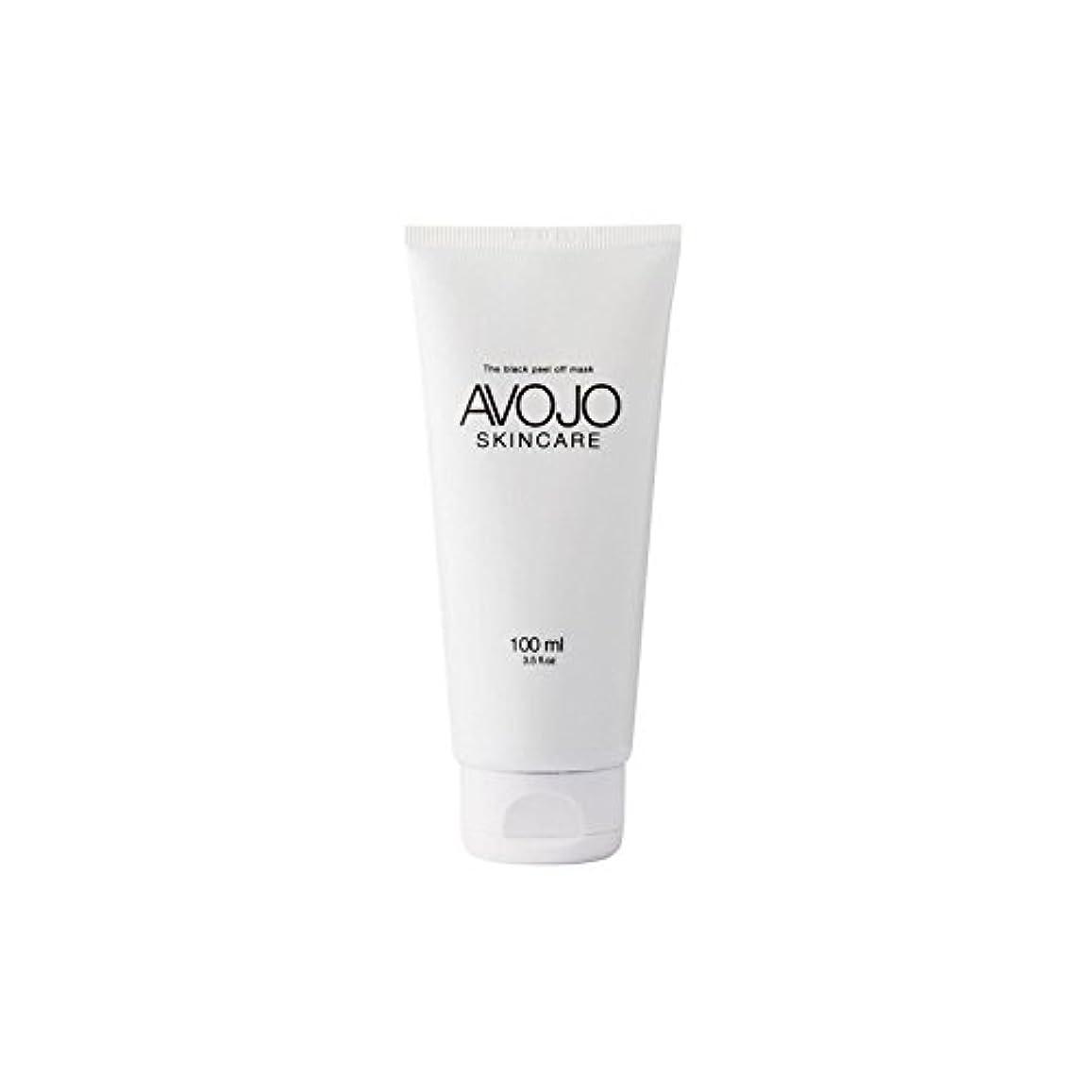 汚物ハーフフラフープ- 黒皮オフマスク - (ボトル100ミリリットル) x4 - Avojo - The Black Peel Off Mask - (Bottle 100ml) (Pack of 4) [並行輸入品]