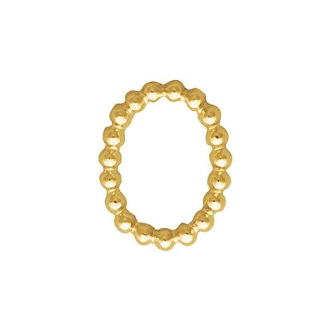 フレア硫黄熱帯のプリティーネイル ネイルアートパーツ ブリオンオーバルS ゴールド  15個