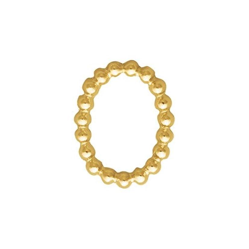 影プレゼント結晶プリティーネイル ネイルアートパーツ ブリオンオーバルS ゴールド  15個