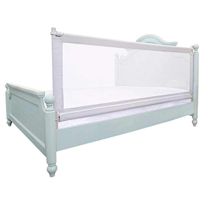GY ベッドレール、 垂直リフト ベビーガードレール、 子供の反倒れのベッドサイドバッフル、 非常に長い高さ ユニバーサル1.5m / 1.8m / 2.0m、 白 (色 : White - normal, サイズ さいず : 150cm)