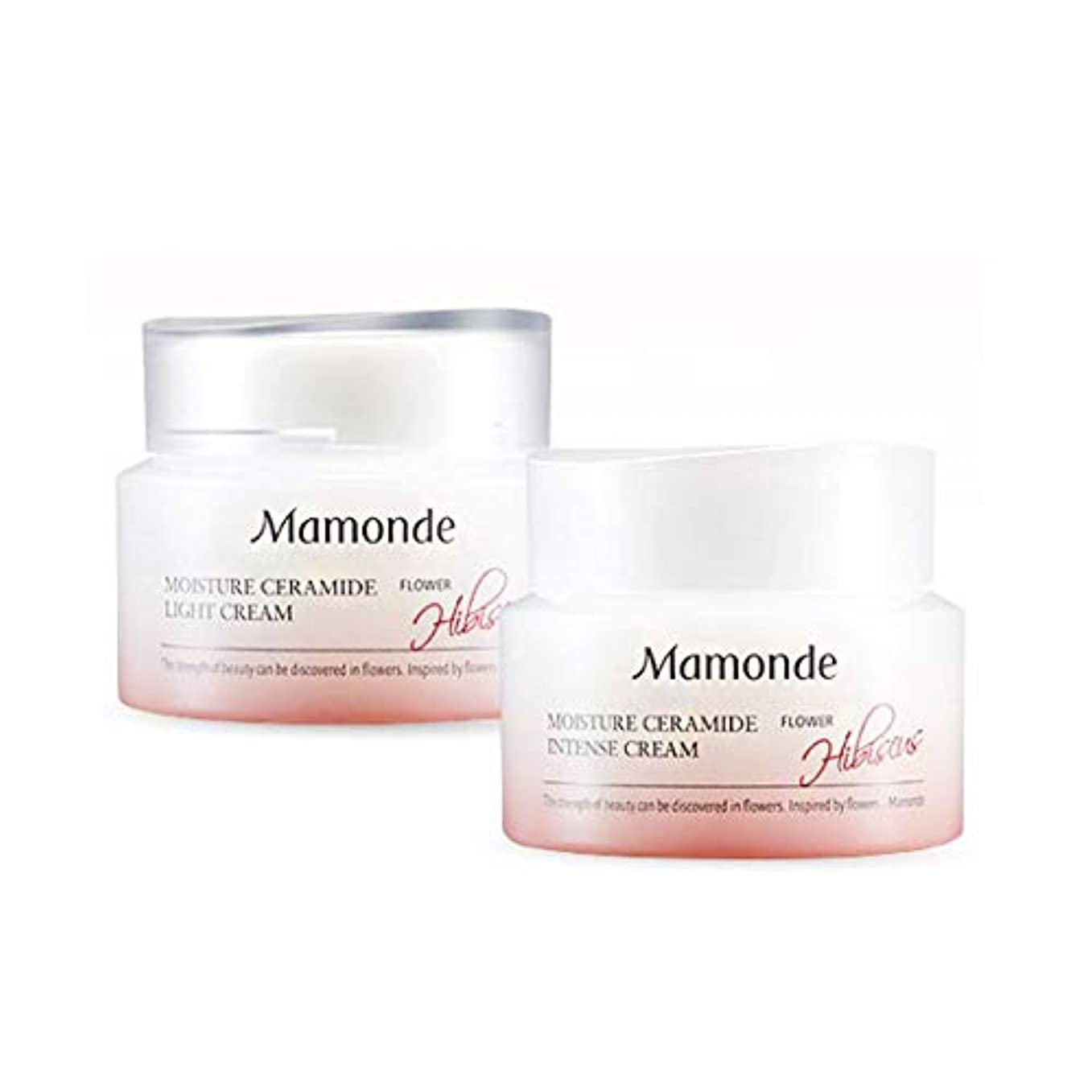 そこから高い守銭奴マモンドモイスチャーセラミドインテンスクリーム50mlx2本セット韓国コスメ、Mamonde Moisture Ceramide Intense Cream 50ml x 2ea Set Korean Cosmetics...