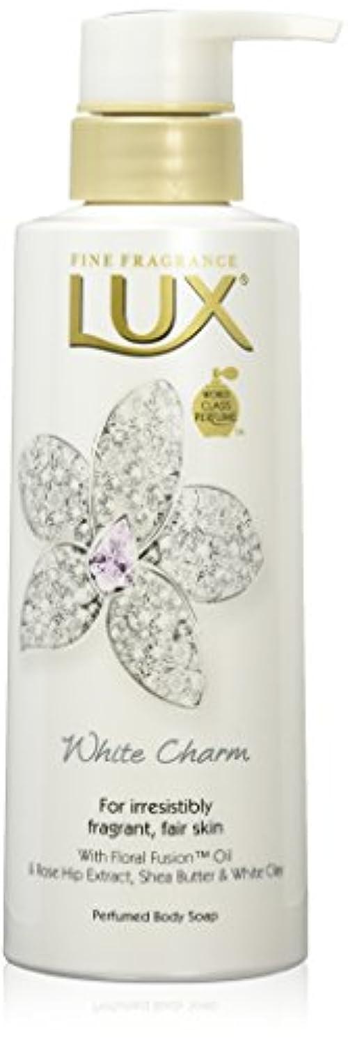 野望チキントランジスタラックス ボディソープ ホワイトチャーム ポンプ 350g (ホワイトフローラルムスクの香り)