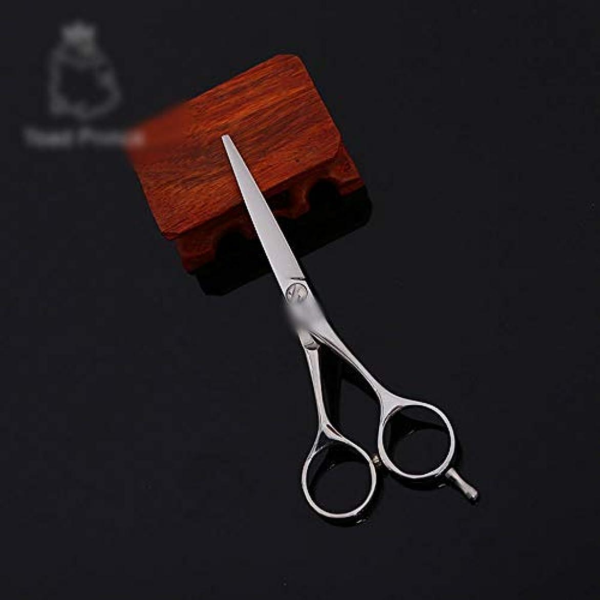 耐えられない忠実なアッティカス理髪用はさみ 高品質6インチ美容院プロのヘアカットフラットせん断ヘアカットはさみステンレス理髪はさみ (色 : Silver)