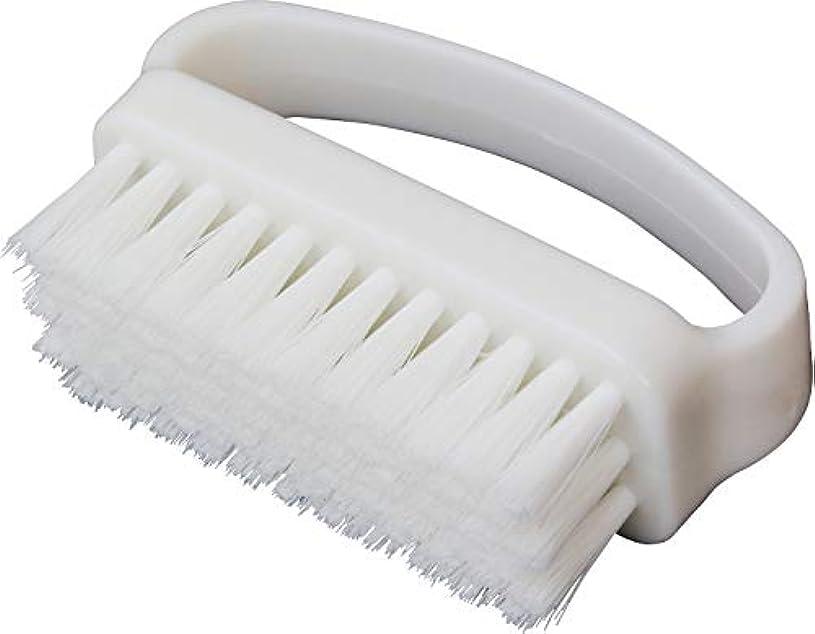 略す集団宅配便ブロス(Bros) 手洗いブラシ ホワイト イタリア産ブラシ毛使用 6×3×8cm
