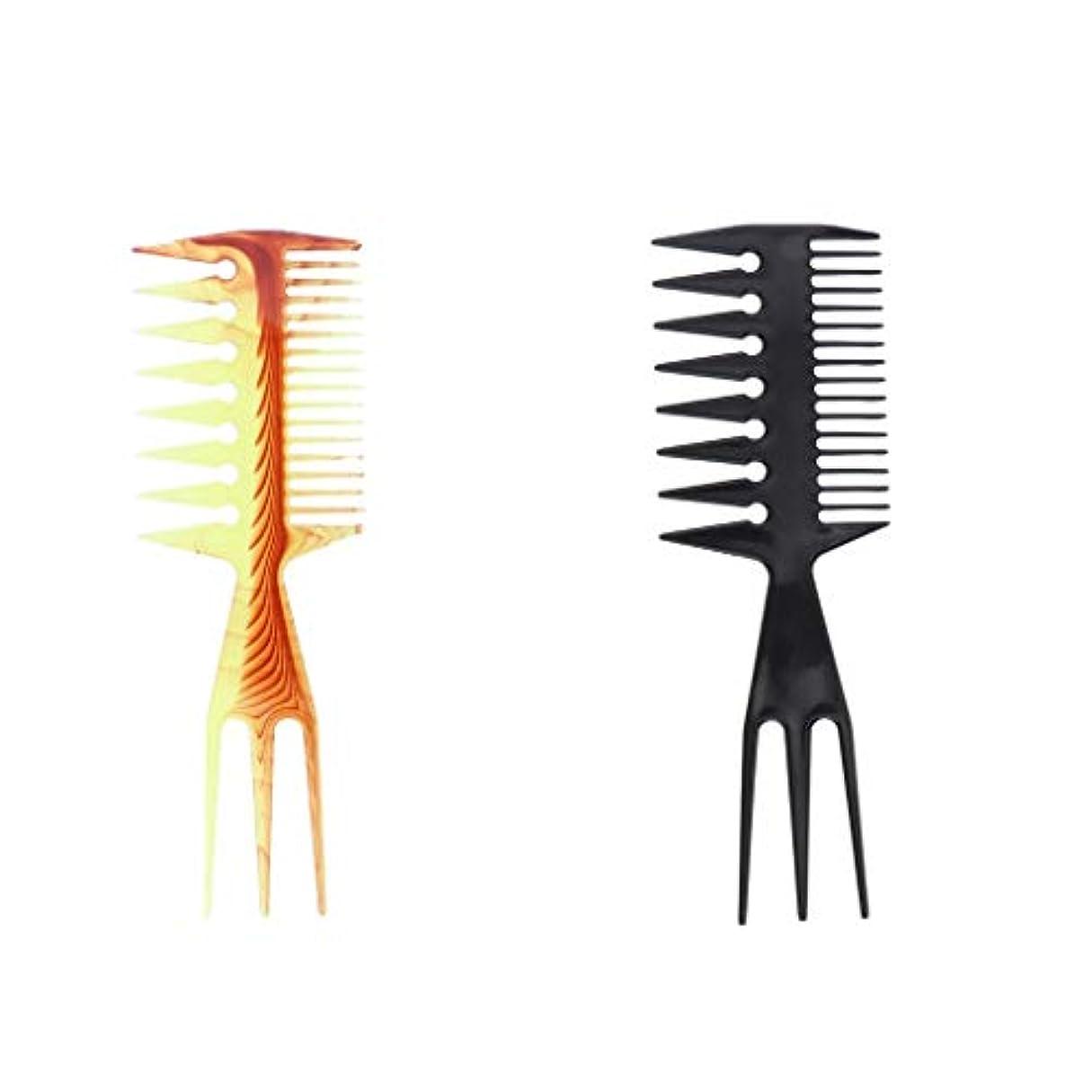 潤滑するアナロジートレイ毛染めコーム 髪染め用ヘアコーム ヘアダイブラシ DIY髪染め用 サロン美髪師用染髪ツール2個セット