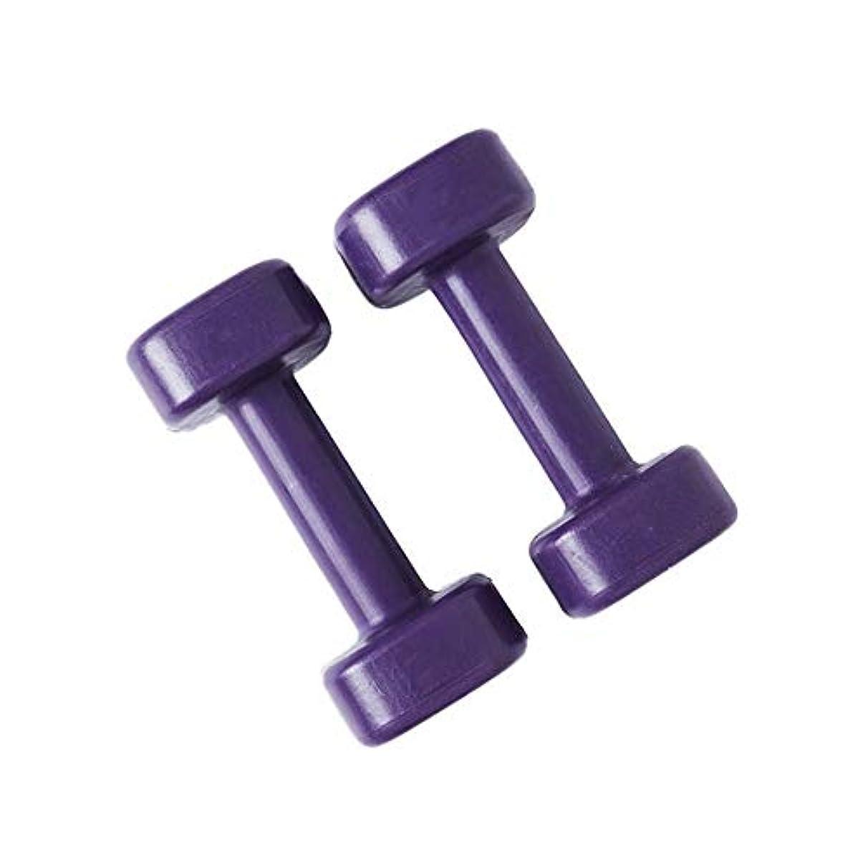 インスタント日付段階ダンベル 環境に優しいレディースダンベル子供ホームエクササイズヨガ小さなダンベルペア 男女兼用 (Color : Purple, Size : 16.5x7cm)