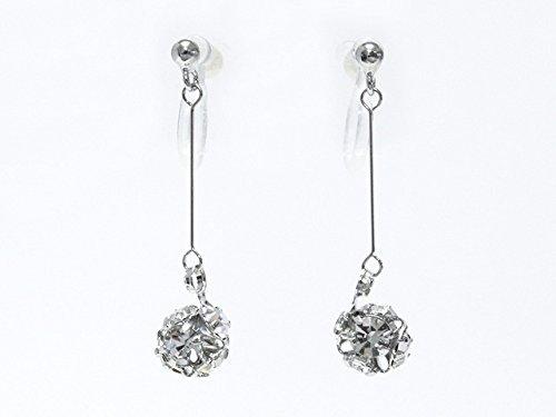 [해외]수지 스톤 볼이 반짝 반짝 빛나고 일정하게 흔들리는 논호루삐아스 귀걸이/Non-Hole Pierced Earrings Resin Stone Ball shimmers shimmerly regularly