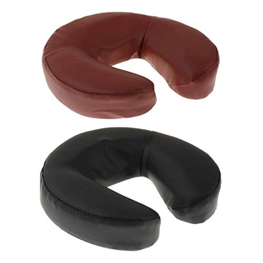 一時解雇するせがむプリーツマッサージ ベッドのベッド用 テーブル枕 クッション フォーム+ PUレザー 2個入り