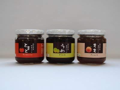 お野菜&果実ジャム 3種類セット トマト うめ もも 福島土産