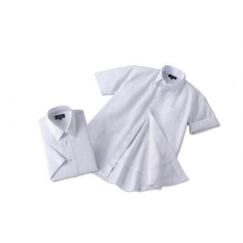 (フランコ コレツィオーニ)Franco Collezioni 裏メッシュ半袖レギュラーワイシャツ2枚組(ホワイト系) 50278  ホワイト LL