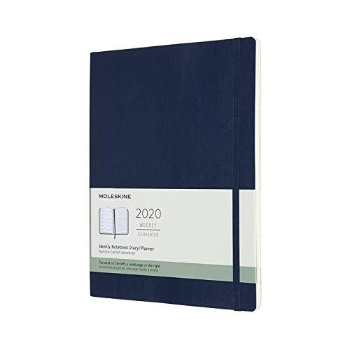 モレスキン 手帳 2020年 1月始まり 12ヶ月ウィークリーダイアリー ソフトカバー XLサイズ サファイアブルー DSB2012WN4Y20-e